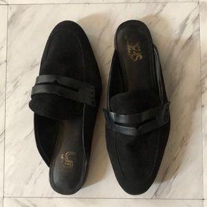 Sam Edelman black suede mules Demi heel size 7.5
